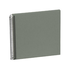 SEMIKOLON Spiral Photo Album Piccolino Black Pages Grey Cover