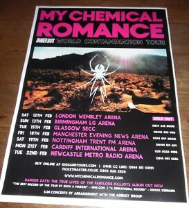 My Chemical Romance - live music show promotional tour concert gig poster