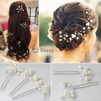 6Pcs Wedding Bridal Pearls Bridesmaid Hair Pins Hair Clips Hairpin Comb Headwear