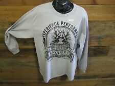 NEW PSE ARCHERY HERITAGE LONG SLEEVED SHIRT, GRAY, LARGE, # P14S-M26-L