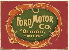 Ford Motor Detroit metal sign 410mm x 300mm  (rh)
