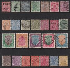 India SG 192//239 Scott 104//139 F/VF Used George V 1921-1935 26 Stamps CV £83