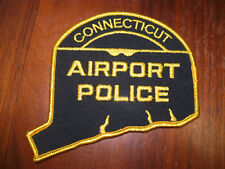CONNECTICUT AIRPORT POLICE PATCH (STATE SHAPE)
