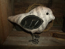 Primitive SONGBIRD Bird Rustic Folk Art Free Standing Ornie Tuck