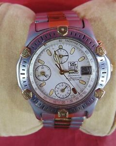 TAG HEUER AUTOMATIC 2000 PROFESSIONAL TWO TONE WATCH 165.806/1 200 METERS CHRONO