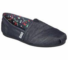SKECHERS Women's 11 BOBS Plush Denim Darlin Memory Foam Slip On Flats 33906 NEW