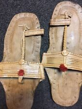 BUFFALO SANDALS Jesus CREEPERS 60S RETRO SANDAL Toe Ring Flats Light Size 8