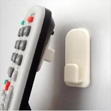 2pcs Hot! Self Adnesive Remote Control WallHook Holder Wall Sticky Hook White JJ