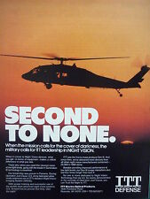 4/1991 PUB ITT ELECTRO OPTICAL NIGHT VISION IMAGING SYSTEMS GEN III US FORCES AD