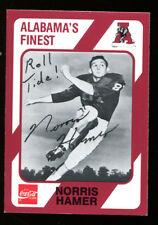 Norris Hamer Signed CC 1989 Alabama Crimson Tide Card Autographed