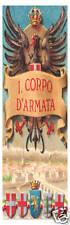 SEGNALIBRO BOOKMARK REGGIMENTALE I° CORPO D'ARMATA