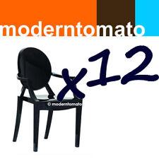 set of 12 black ghost spirit arm chair by moderntomato