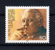 BRD FRANCOBOLLI 1987 Dr. Ludwig Erhard MER. n. 1308 ** Fresco Posta