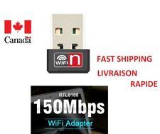 Mini USB Wireless N Adapter 802.11B/G/N WiFi LAN 150Mbps for Desktop Laptop