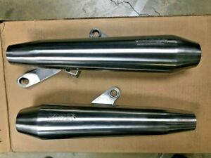 Triumph Street Twin Vance & Hines Exhaust Slip Ons Brushed DEMO PIPES A9600518