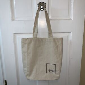 "The James Hotels Tote Bag Cotton Canvas Ivory Gym Book Beach Shopping 11"" x 14"""