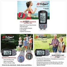 Walking 3D Pedometer Daily Target Monitor Calorie Counter With Clip and Strap