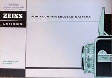 Very Rare Hasselblad 1000F Zeiss lens brochure