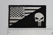 US Flag Punisher - Club Harley Biker Funny Motorcycle Iron On Small Patch