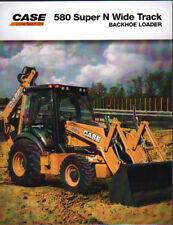"""Case"""" 580 Super N Wide Track """"Tracteur Chargeuse-Pelleteuse brochure dépliant"""