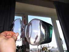 """VINTAGE très pâle Améthyste épais Aqua Base vase en verre volants Rim UV Green Glow 6.25"""""""