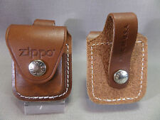 ZIPPO Genuine Leather Briquet Pouch avec boucle - Brown - NEUF - 010476