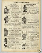 1926 PAPER AD Beacon Dietz Railroad Vesta Adlake Kero Moore Wood Bail Lantern