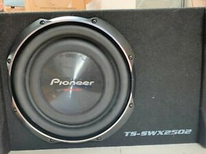 """Pioneer TS-SWX2502 10"""" 500 Watts 4Ohm Down Fire Shallow Mount Enclosed Sub USED"""
