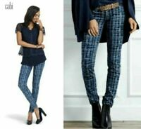 Cabi Skinny Jeans Blue Print with Stretch Size 6