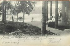 Adirondack Post Card Cedar Island Hotel, Fourth Lake, Inlet NY, 1905