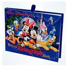 Official Walt Disney World Resort Autograph Book Mickey Pluto Donald Goofy NEW
