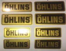 Ohlins Fork & Shock Decal Kit/Gold