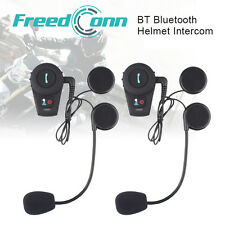 2x 500M BT Interphone Bluetooth Motorbike Motorcycle Helmet Intercom Headset FM