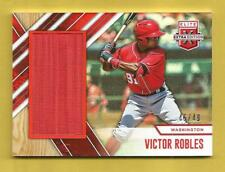 VICTOR ROBLES 2017 Elite Extra Edition Jumbo Materials Game-Used Jersey #d 45/49