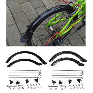 20'' 14'' Folding Bike MTB Mudguard Universal Set for V Brake Bicycle Mud Guards