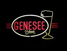 Vintage Genesee Beer electric lighted wall Bar Sign, plastic, looks like Neon