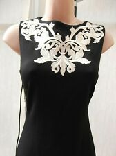 BNWT TED BAKER BLACK  / GOLD THREAD EMBELLISHED PENCIL BODYCON DRESS SIZE 8 1
