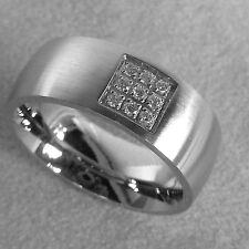 Modeschmuck-Ringe im Band-Stil aus Edelstahl mit Cubic Zirkonia für Damen