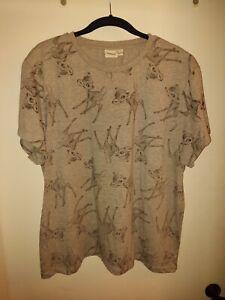 Ladies Disney Bambi T-shirt Size 20