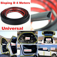 4m Sloping D Shaped Car Door Seal Strip Rubber Trunk Hood Edge Insulation Trim