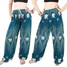 Harem Trousers - Aladdin Smock Pants Hippie Boho Jumpsuit Elephant Green al080t