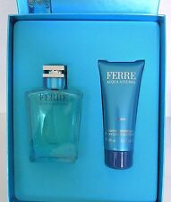 Gianfranco FERRE ACQUA AZZURRA MEN SET REGALO 100ml EDT SPRAY + 100ml Docciaschiuma