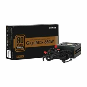 ZALMAN 650W BRONZE GIGAMAX Power Supply 80+ Bronze 120mm Fan 2 x 6+2 pin PCIE