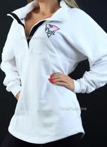 Victoria's Secret PINK Varsity Quarter Snap Mockneck Logo Sweatshirt