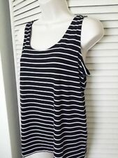 CHICO'S Adjustable Cami Top Tank - Black/White Striped- - NWT Size   2, 3