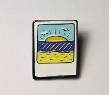 Polaroid sunset quality enamel pin badge (UK seller)cute nerdy metal badge gift