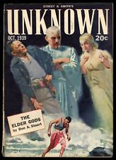 Unknown Vol 2 #2 Oct 1939 Sci-Fi Pulp Elder Gods Don Stuart Theodore Sturgeon VG