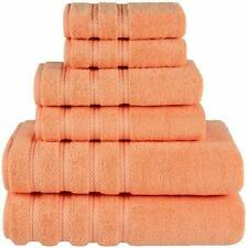 Luxury Hotel & Spa Quality 6 Pc Bathroom American Soft Linen Towels Malibu Peach