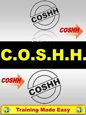 COSHH - Chemicals Health and Safety Construction Lab Training Made Easy HQ UK