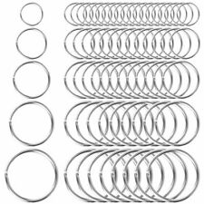 200 Pcs Assorted Key Rings Split Keychain Key Rings Bulk 5 Size 10 15 20 25 30mm